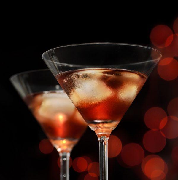 Copa Martini con hielo