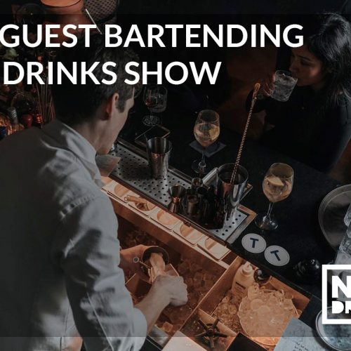 guest bartending the drinks show